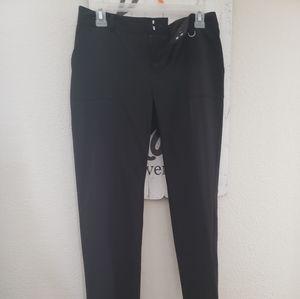 Black CK straight leg dress pants